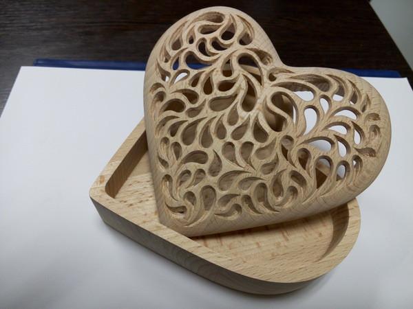 шкатулка-сердце на чпу станке