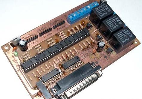 Интерфейсная плата с опторазвязкой LPT порта для ЧПУ