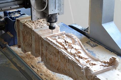 процесс обработки на 4 осевом фрезе чпу