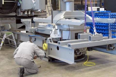 процесс ремонта станка чпу