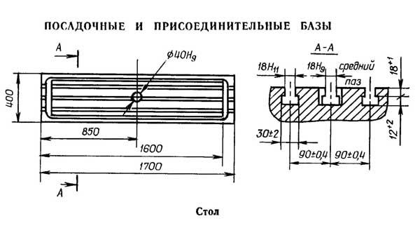 Присоединительные размеры фрезерного станка с ЧПУ 6Р13Ф3