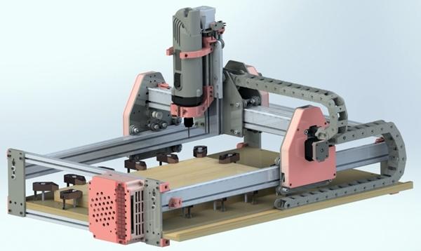 модель портального фрезерного станка с чпу