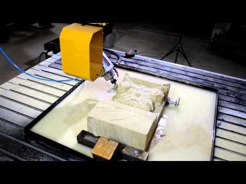 обработка камня на настольном фрезерном станке чпу