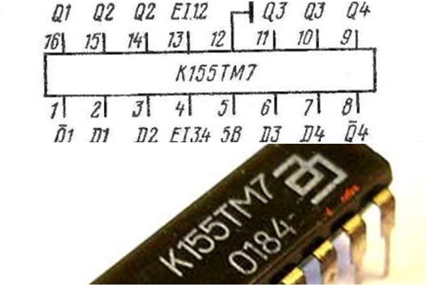 схема и внешний вид К155ТМ7