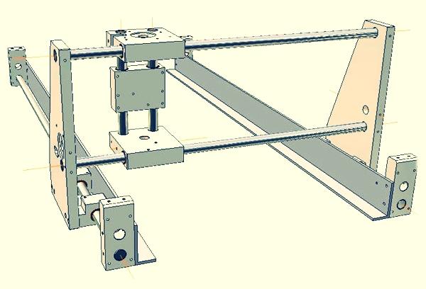 схема трехкоординатного самодельного фрезерного станка с чпу