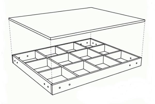 чертеж рабочего стола чпу станка с фанеры