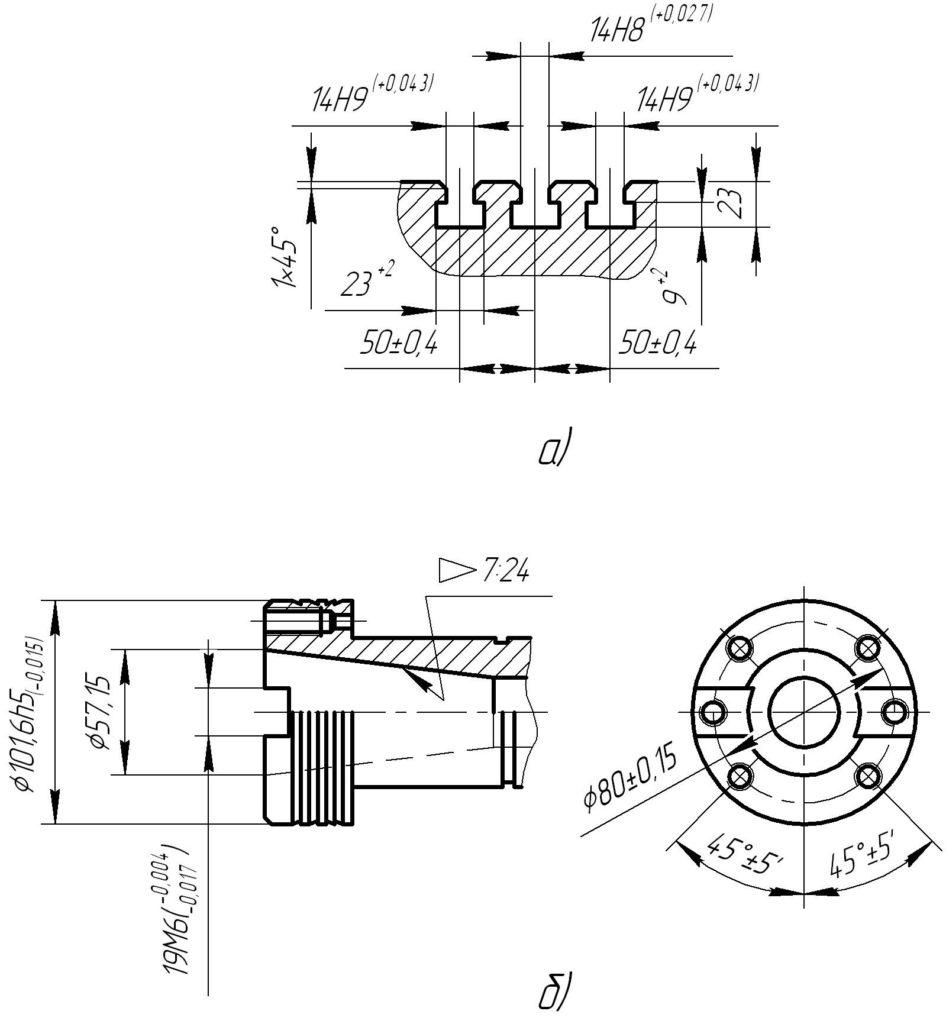 присоединительные размеры шпинделя станка 6р81