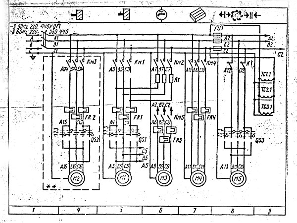электрическая схема станка 6т12