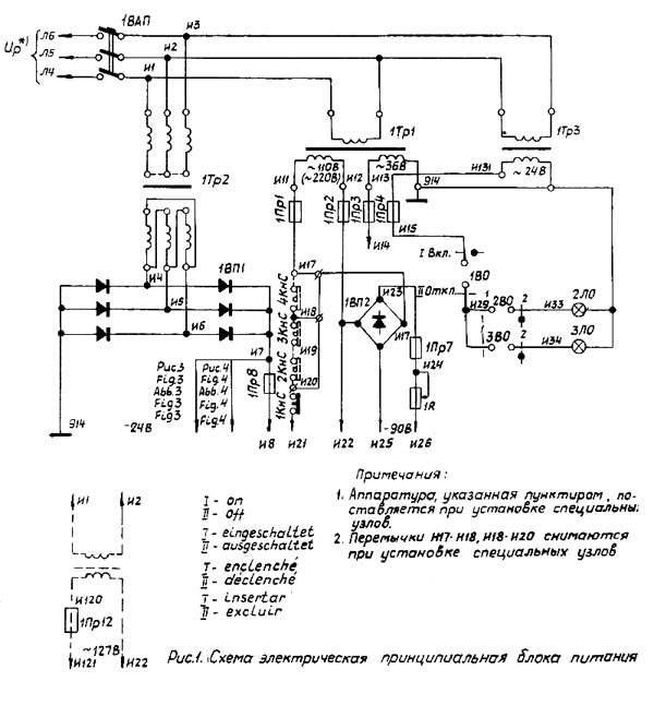 электрическая схема станка 1516