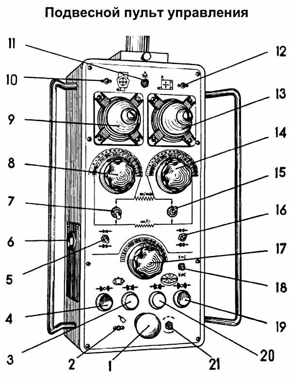 схема пульта управления станков 1512