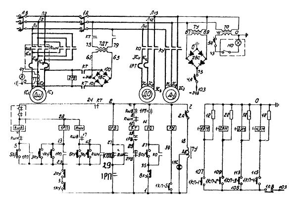 электрическая схема токарного станка 165