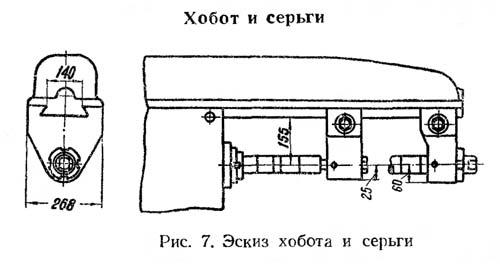Хобот и серьга станка 6м82