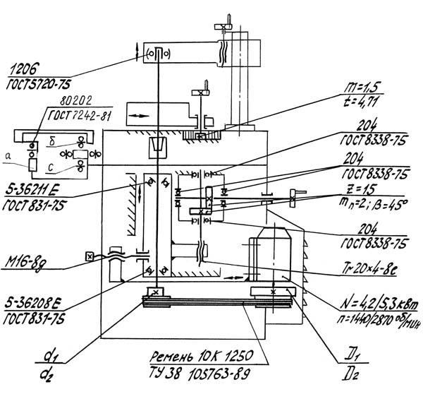 Кинематическая схема ФСШ-1
