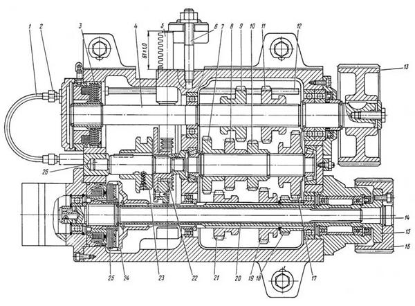коробка скоростей токарного станка 16б16кп