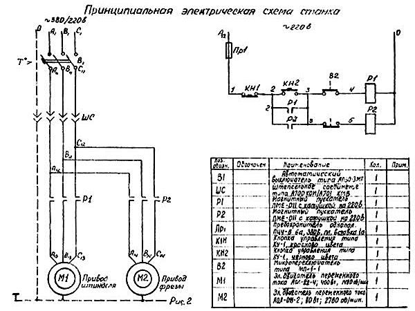электрическая схема токарного станка  р 105