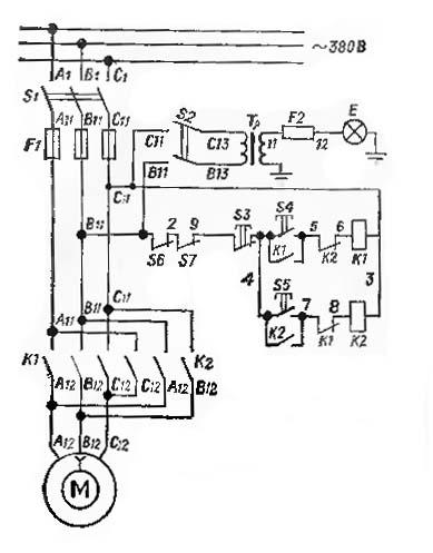 электрическая схема токарного станка тв 6