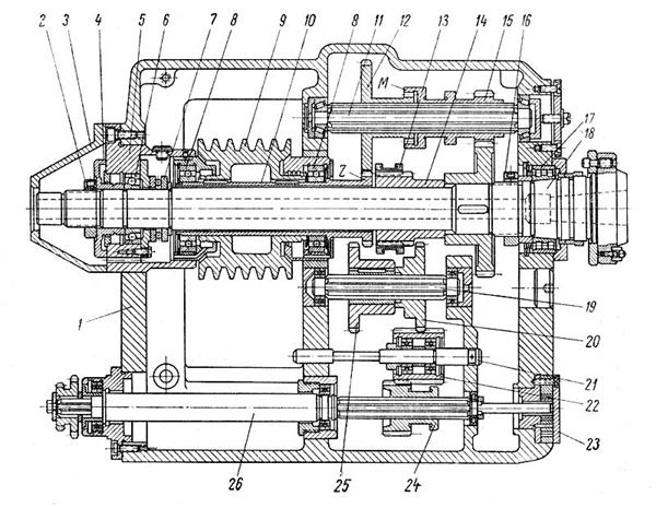 Передняя бабка токарного станка 1а616
