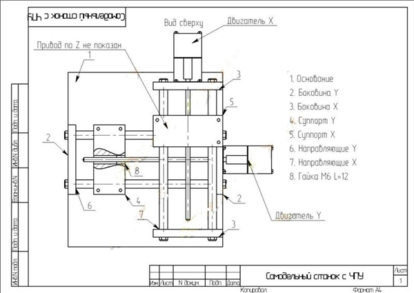 схема самодельного фрезерного станка с чпу