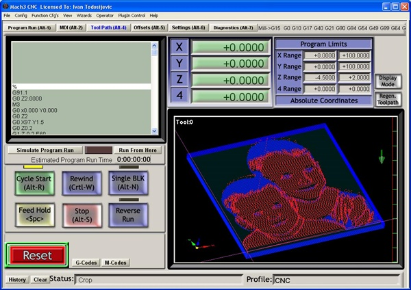 ImaGcode - программа генерирации G-кода из изображений