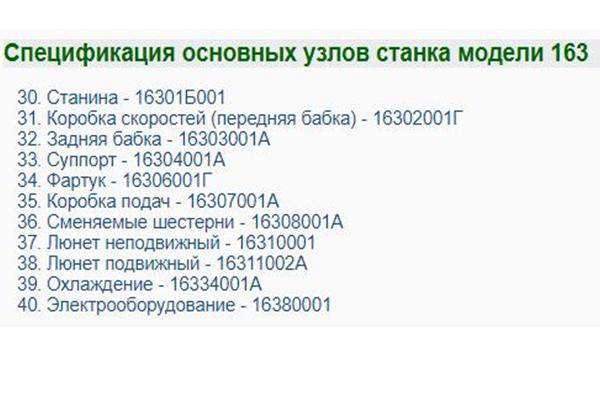основные узлы токарного станка 163