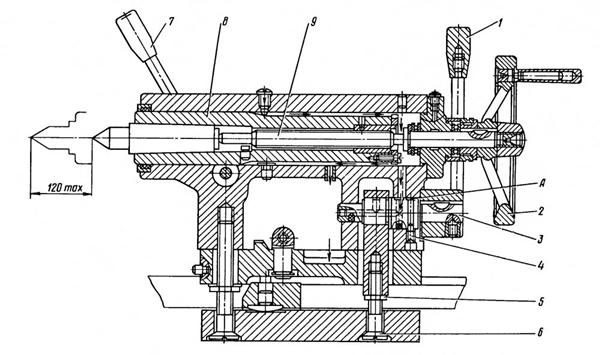 задняя бабка токарного станка 16б16кп