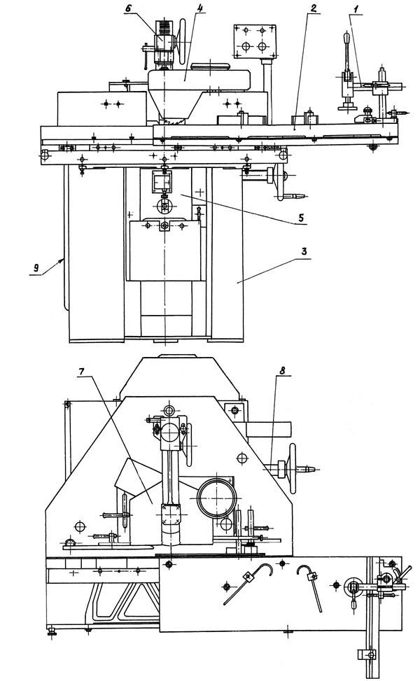 схема конструкции фрезерного станка фсш 1а
