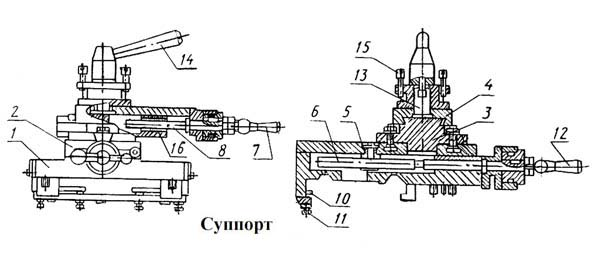 Суппорт станка тв-7