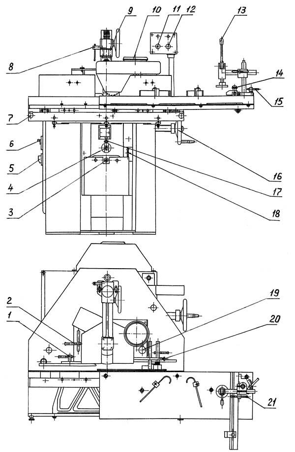 Органы станка ФСШ-1