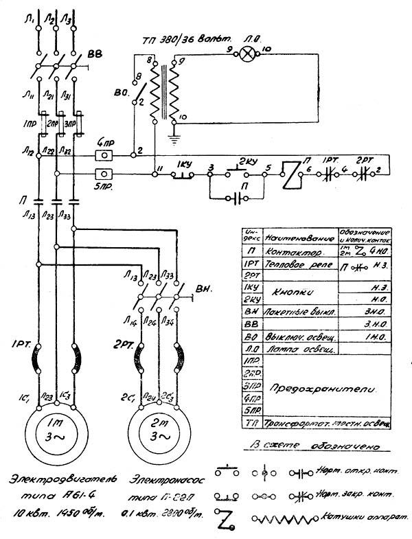 Электрическая схема дип300