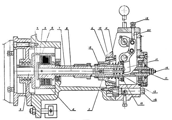 муфта и тормоз станка иж-250