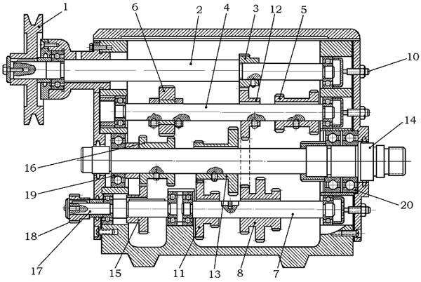 Схема передней бабки станка тв 4